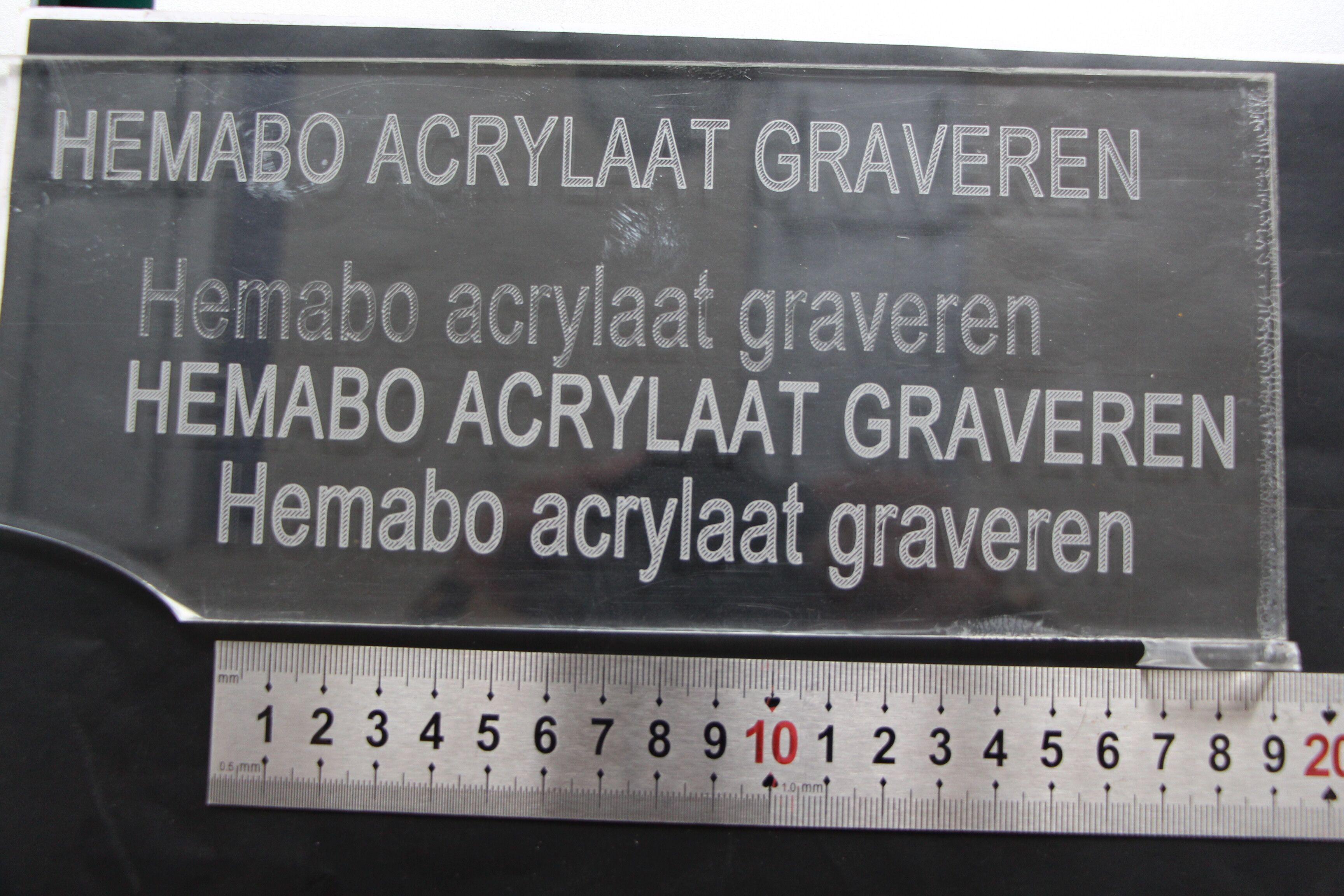 graveermachine graveerlaser CO2 laser acrylaat graveren